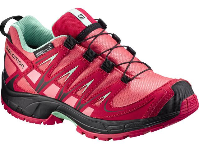 Salomon Junior XA Pro 3D CSWP Shoes Madder Pink/Lotus Pink/Lucite Green